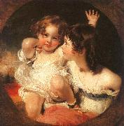 Sir Thomas Lawrence The Calmady Children oil painting